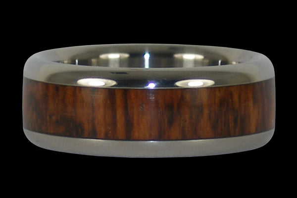 Snakewood Titanium Ring