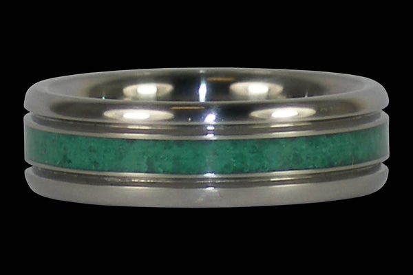 Malachite Inlay Titanium Ring