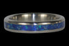 Blue Opal and Hawaiian Koa Titanium Ring - Hawaii Titanium Rings  - 3
