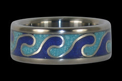 Rolling Wave Titanium Ring - Hawaii Titanium Rings