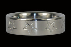 Stars Titanium Ring - Hawaii Titanium Rings