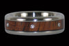 Dark Koa Diamond Titanium Ring - Hawaii Titanium Rings  - 1