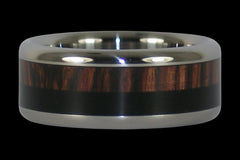 Double Wood Inlay Titanium Ring - Hawaii Titanium Rings