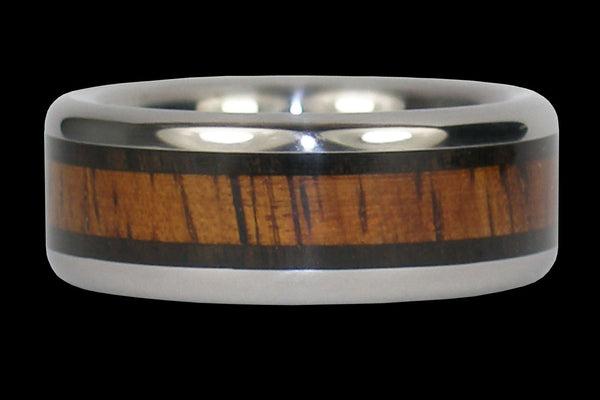 African Blackwood and Koa Titanium Ring