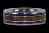 Koa and Lapis Titanium Ring - Hawaii Titanium Rings  - 1