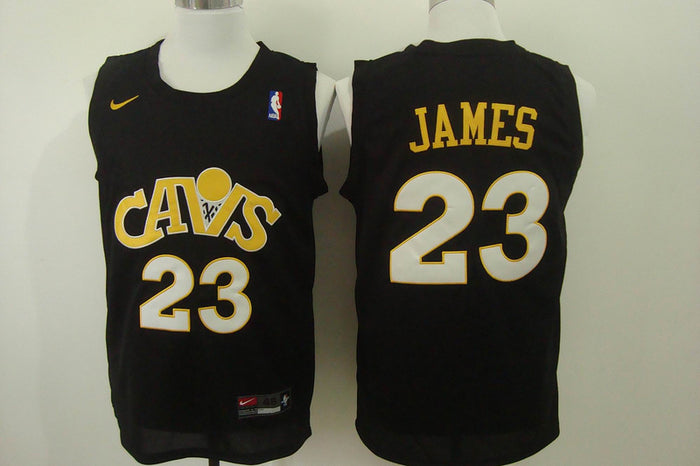 quality design 16253 b5c34 Men CAVS 23 Lebron James Jersey Black Cleveland Cavaliers Jersey Fanatics
