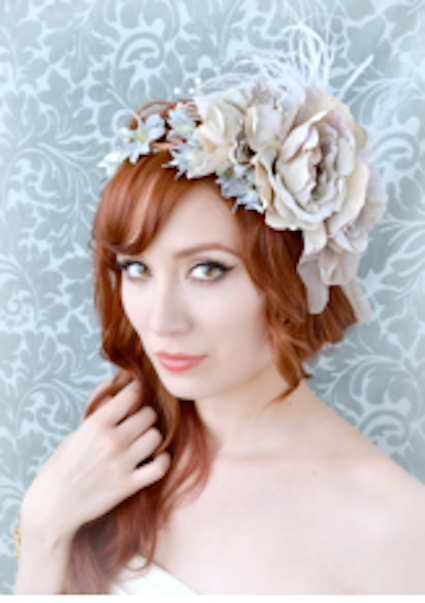 Lavender Flower Fascinator, £86.00
