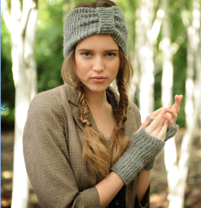 Misty Turban and Wrist Warmers Knit