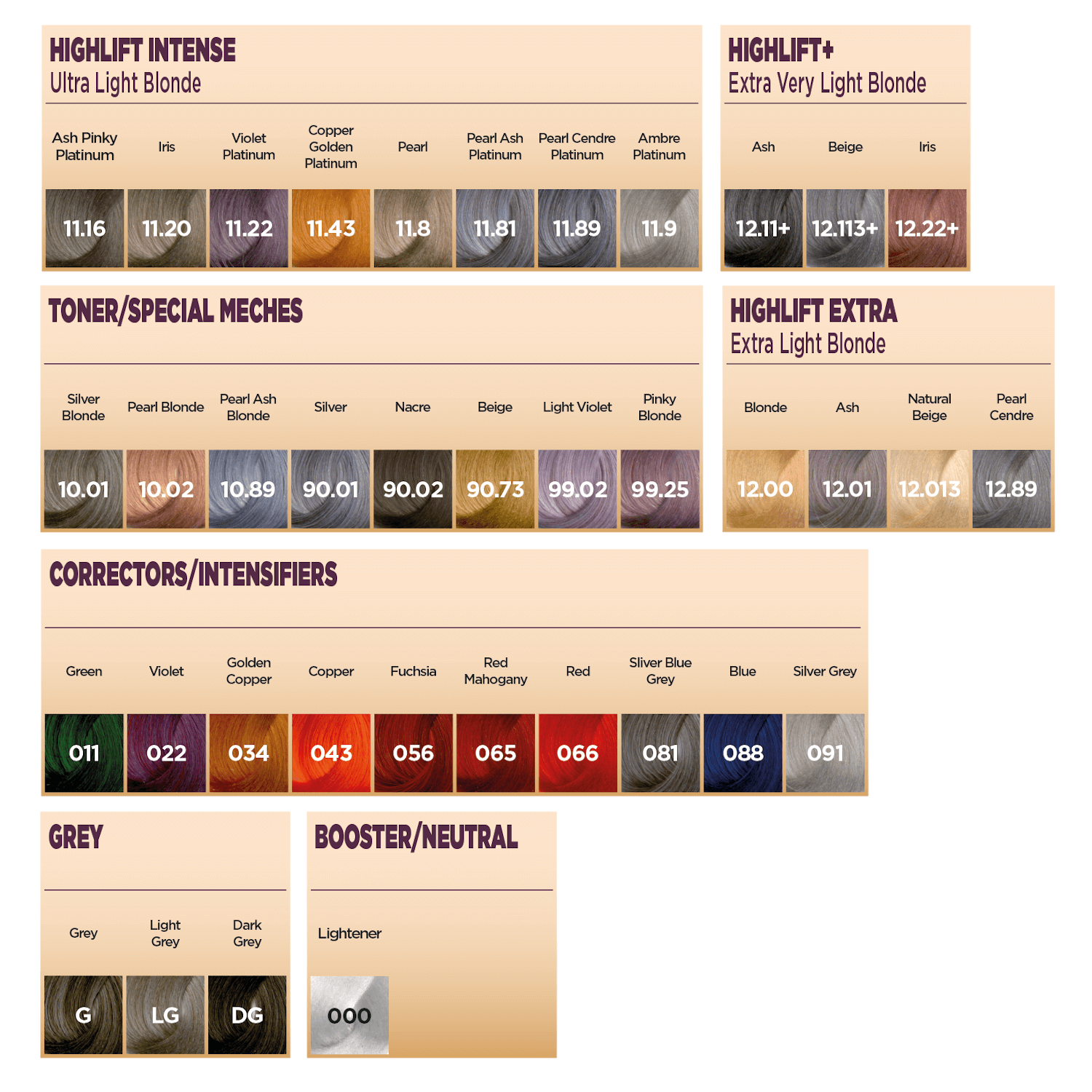 Neal & Wolf Colour Shade Chart Page 4
