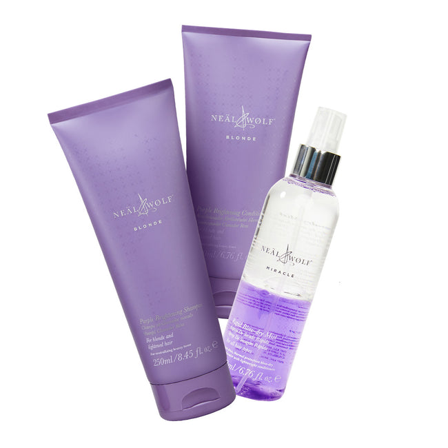 Neal & Wolf Purple Shampoo, Purple Conditioner & Miracle Blow Dry Mist