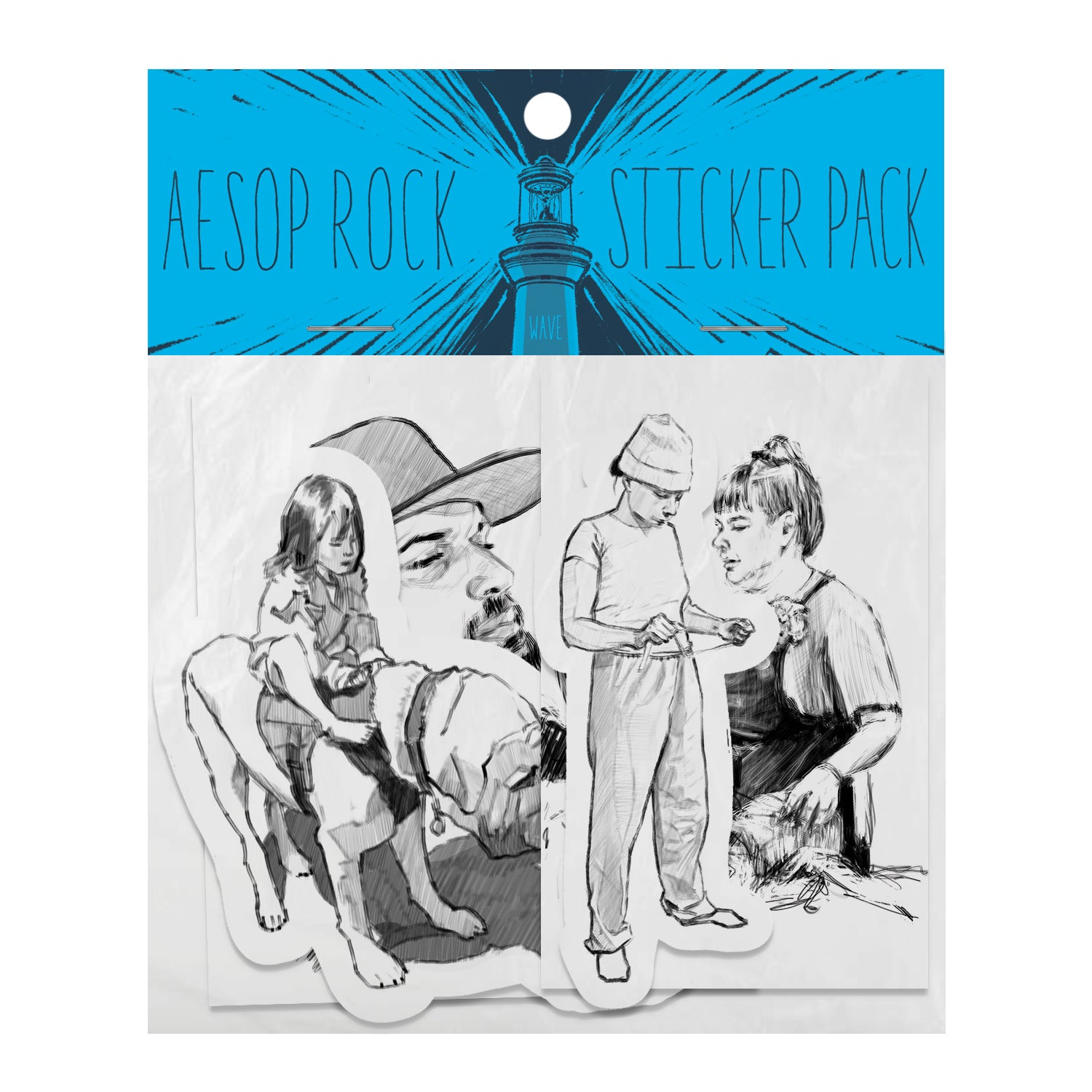 "Aesop Rock ""Wave"" Sticker Pack"