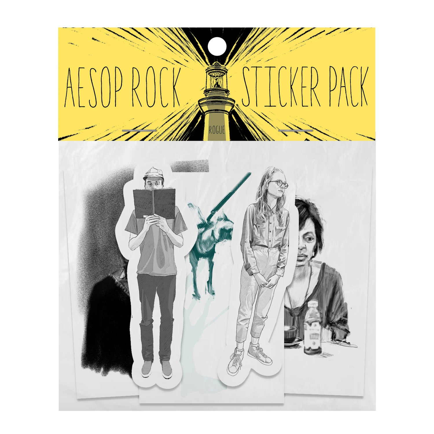 "Aesop Rock ""Rogue"" Sticker Pack"