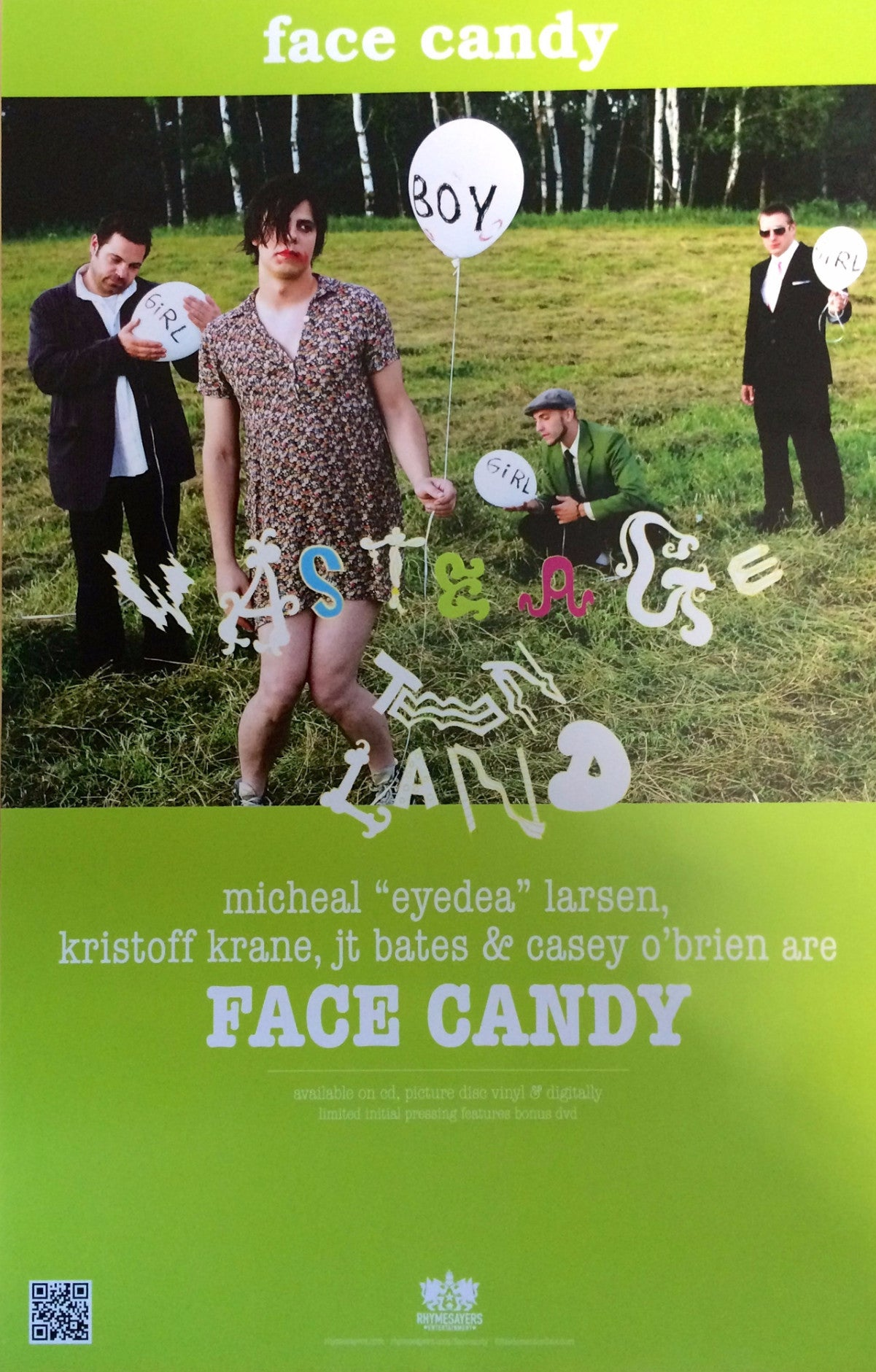 "Face Candy ""Waste Age Teen Land"" Poster"