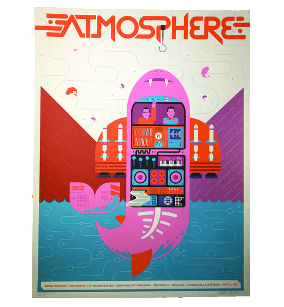 "Atmosphere ""Shrine Outdoors"" 18 x 24 Screen Print Poster"
