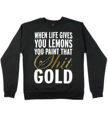 "Atmosphere ""Gold"" Black Crewneck Sweatshirt"