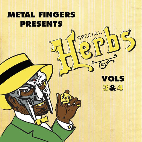 "MF Doom ""Special Herbs Vol. 3 & 4"" 2X Vinyl LP"