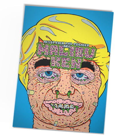 "Aesop Rock & TOBACCO ""Malibu Ken"" Black Light Screenprint Poster"