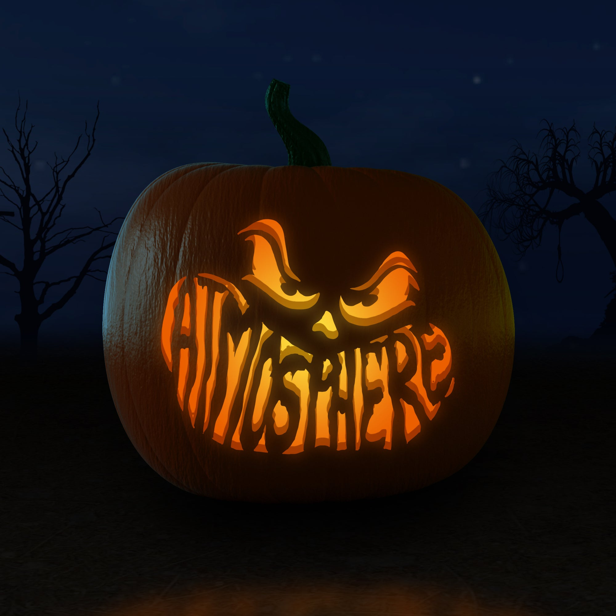 Atmosphere Printable Pumpkin Carving Stencils