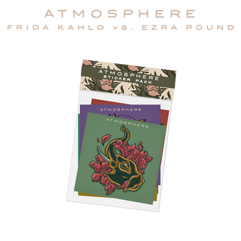 "Atmosphere ""Frida Kahlo vs Ezra Pound"" Sticker Pack"