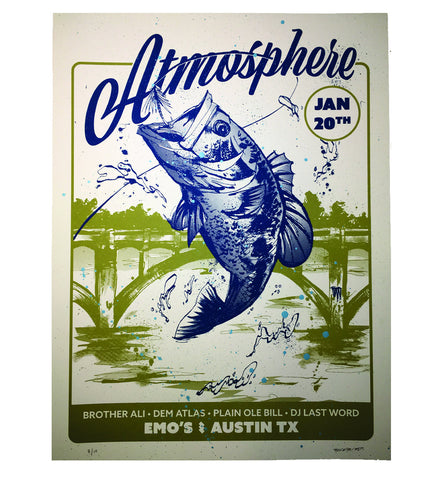 "Atmosphere ""Emo's"" 18 x 24 Screenprint Poster"