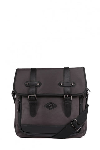 Leather Shoulder Bag ( Brown )