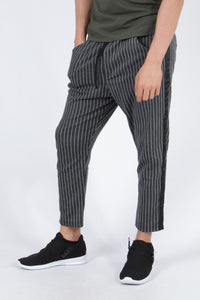 Noir Jux Striped Pants