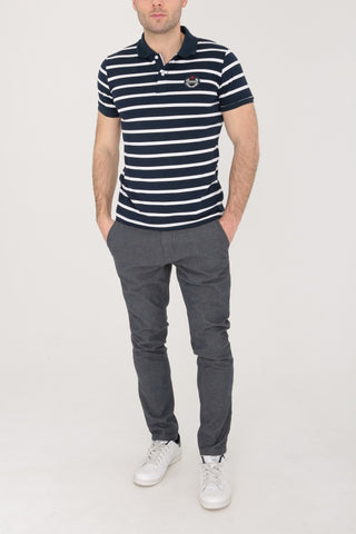 Black & White Stripped Polo