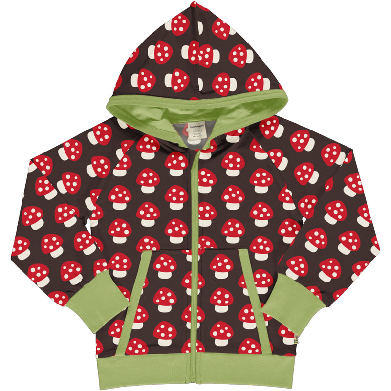 Maxomorra Autumn Cardigan Hood Sweat MUSHROOM sale