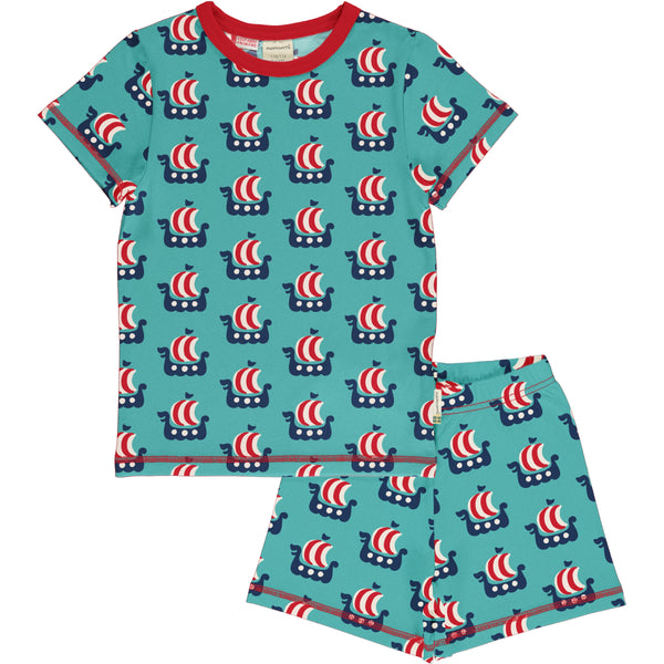 Maxomorra Spring Pyjama Set SS VIKING SHIP