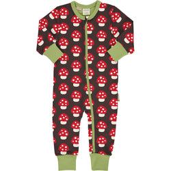 Maxomorra Autumn Rompersuit LS MUSHROOM sale