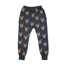 Malinami MOOSE ON DARK GREY SWEATPANTS WITH POCKETS christmas sale