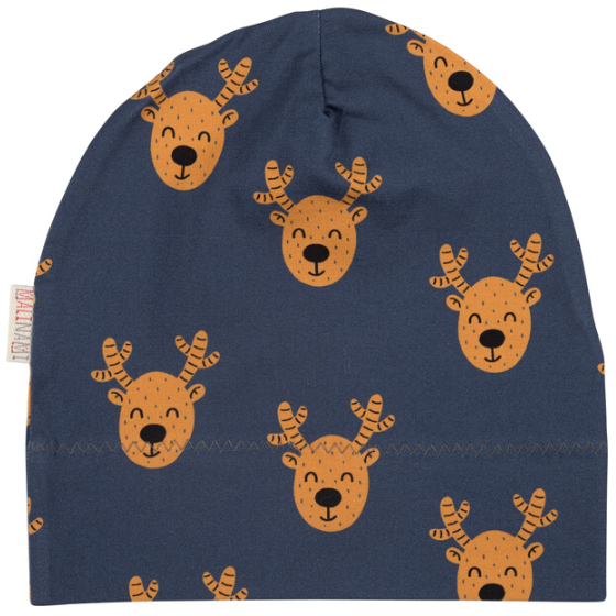 Malinami MOOSE ON DARK GREY BEANIE christmas sale