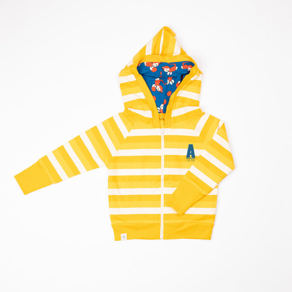 Alba SS21 Alltime Zipper Hood Daffodil Stripes
