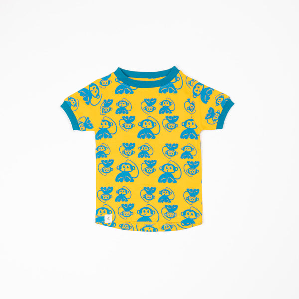 Alba SS21 Bella T-shirt Turkish Tile Whistling Monkeys