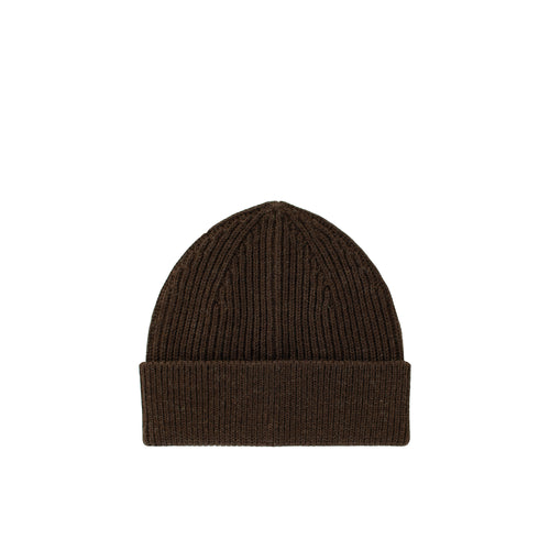 Long Beanie - Natural Brown