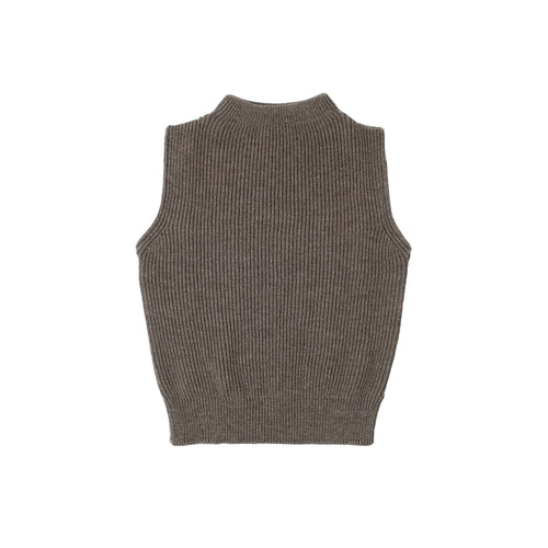 Navy Vest - Natural Taupe