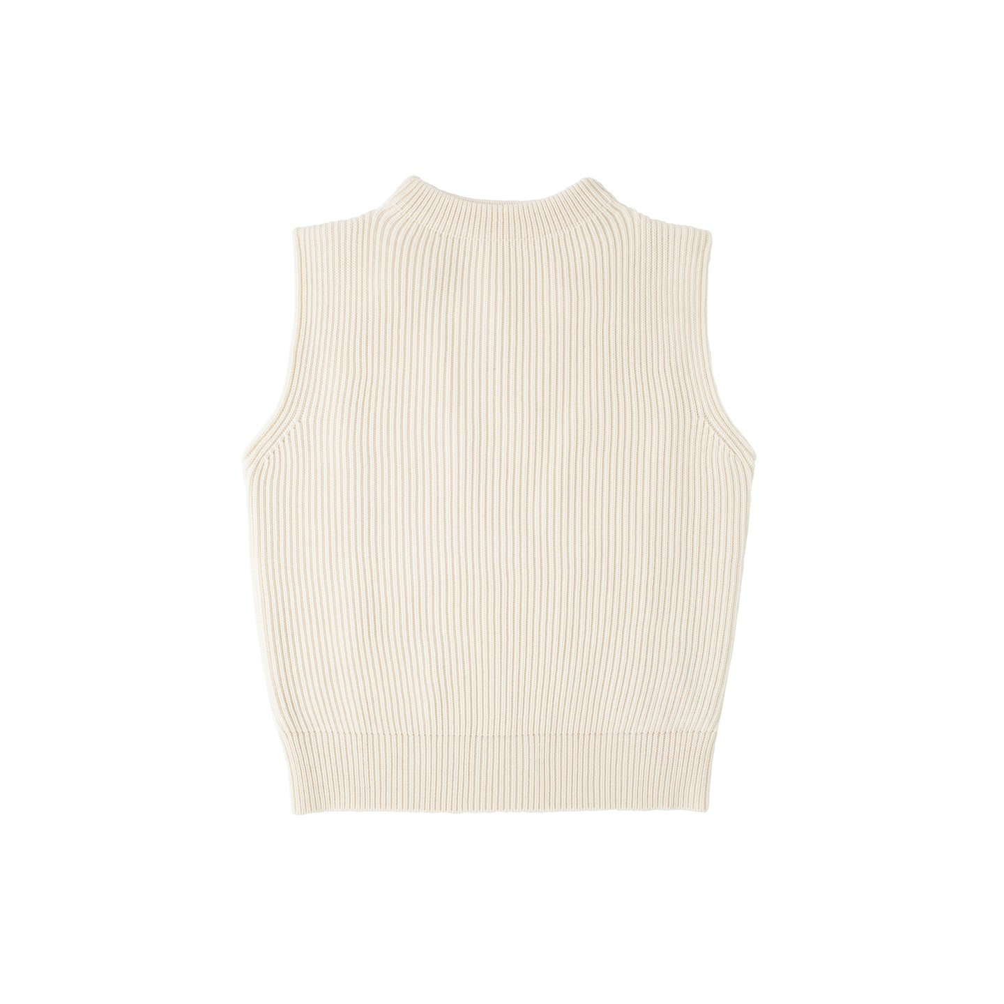 Navy Vest - Off-white