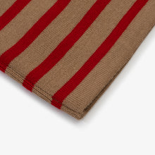 Marine Stripe - Camel W/ Red Stripe