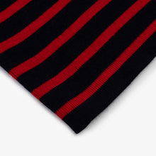 Marine Stripe - Navy Blue W/ Red Stripe