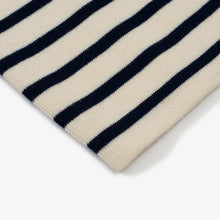 ANDERSEN-ANDERSEN Marine Stripe - Off White ground Royal Blue stripe