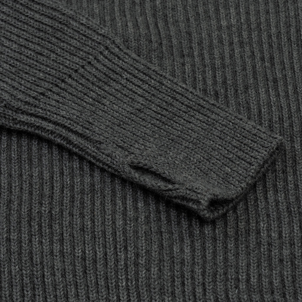 Navy Half-Zip Pockets - Grey
