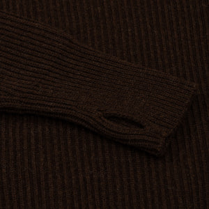 ANDERSEN-ANDERSEN Navy Turtleneck - Natural Brown