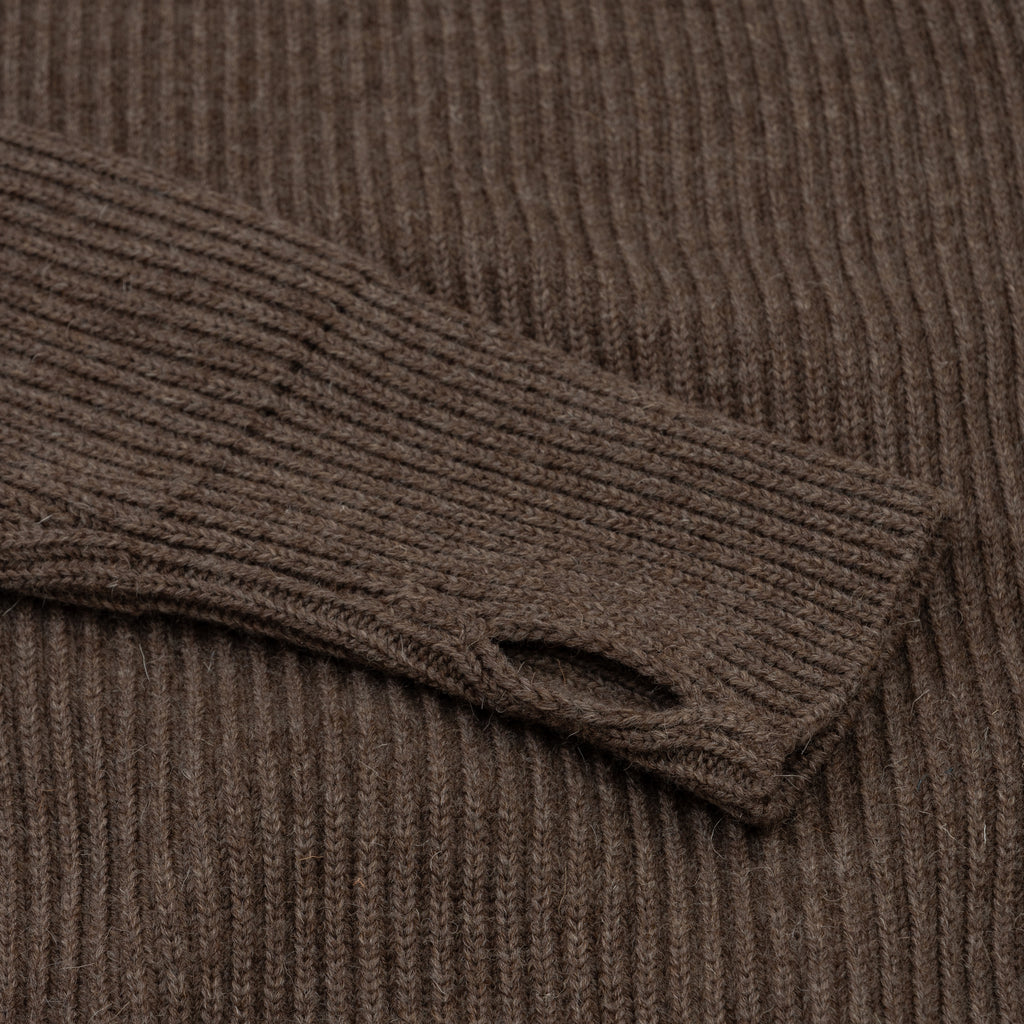 Navy Half-Zip Pockets - Natural Taupe