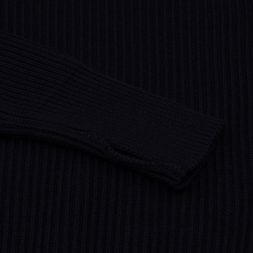 Navy Half-Zip Pockets - Navy Blue