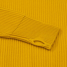 Navy Turtleneck - Yellow