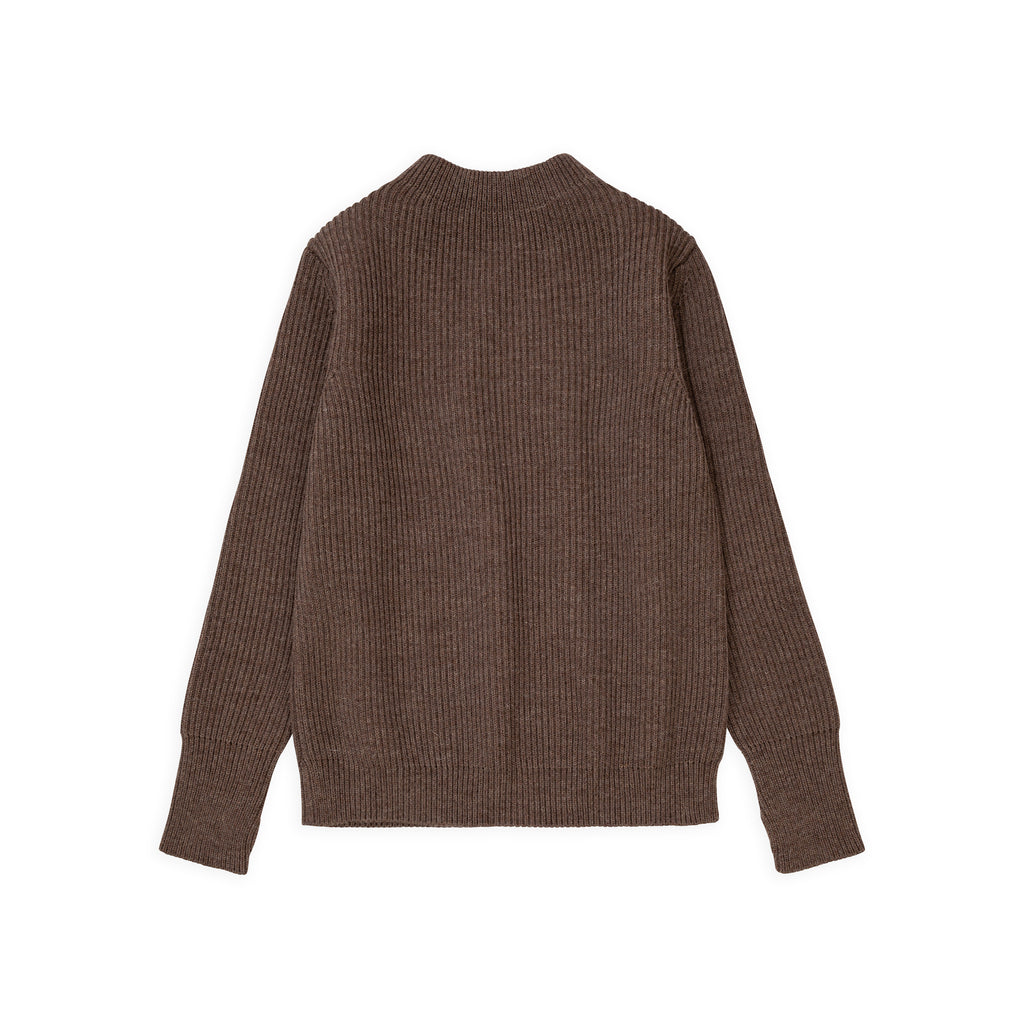 Navy Crewneck - Natural Taupe
