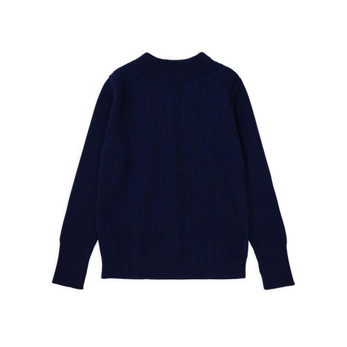 ANDERSEN-ANDERSEN Navy Crewneck - Royal Blue