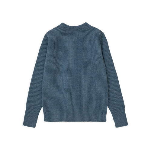 Navy Crewneck - Light Indigo