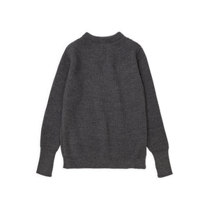 Navy Crewneck - Grey