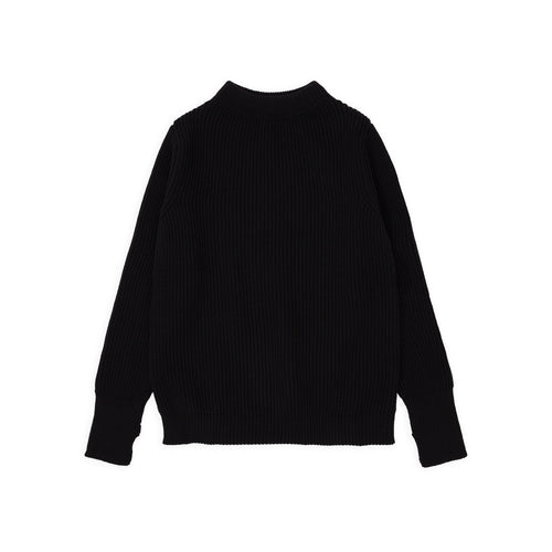 Navy Crewneck - Black